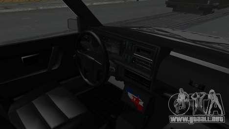 Volkswagen Golf Mk2 Milicija para la visión correcta GTA San Andreas