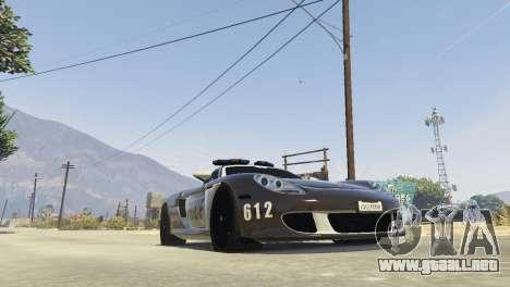 GTA 5 Porsche Carrera GT Cop vista trasera