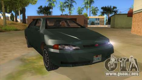 GTA LCS KURUMA para GTA San Andreas vista hacia atrás