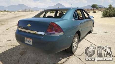GTA 5 Chevrolet Impala vista lateral izquierda trasera