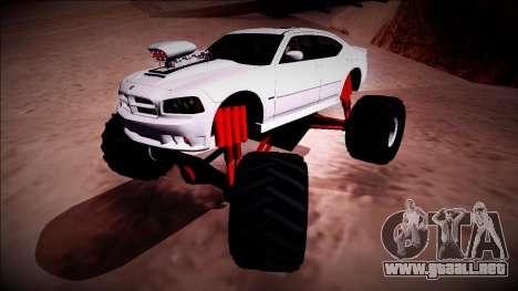 2006 Dodge Charger SRT8 Monster Truck para la vista superior GTA San Andreas