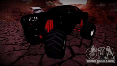 Nissan Skyline R34 Monster Truck para visión interna GTA San Andreas