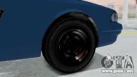 GTA 5 Vapid Stanier II Taxi IVF para GTA San Andreas vista posterior izquierda