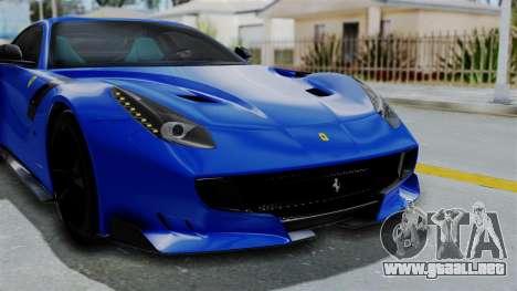 Ferrari F12 TDF 2016 para vista lateral GTA San Andreas