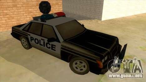 Police Car from Manhunt 2 para GTA San Andreas vista hacia atrás