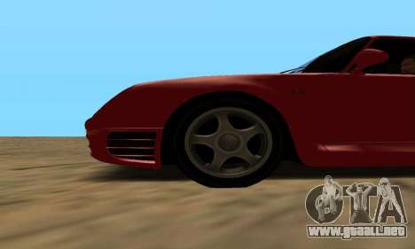 Porsche 959 para GTA San Andreas vista posterior izquierda