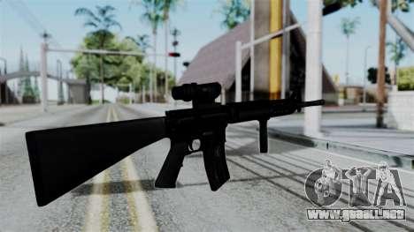No More Room in Hell - M16A4 ACOG para GTA San Andreas tercera pantalla