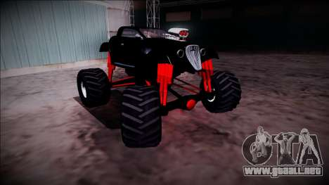 GTA 5 Hotknife Monster Truck para vista lateral GTA San Andreas