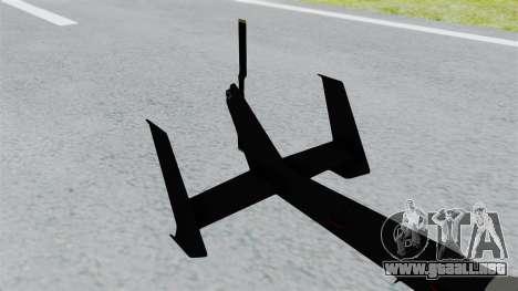 GTA 5 Super Volito Carbon para GTA San Andreas vista posterior izquierda