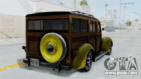 Ford V-8 De Luxe Station Wagon 1937 Mafia2 v2 para GTA San Andreas left