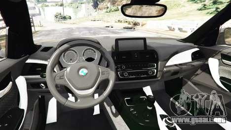 GTA 5 BMW M235i Coupe vista lateral trasera derecha