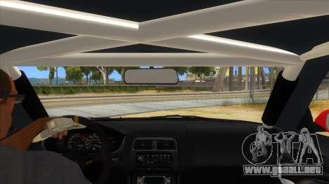 Nissan Silvia S14 Drag para visión interna GTA San Andreas