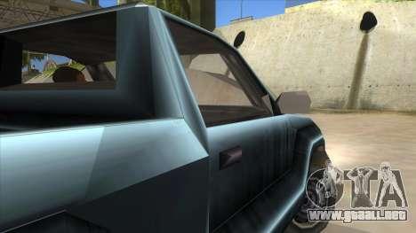 GTA III Bobcat Original Style para visión interna GTA San Andreas