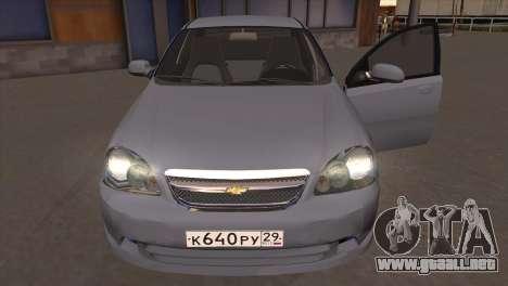 Chevrolet Lacetti Sedan para GTA San Andreas vista hacia atrás