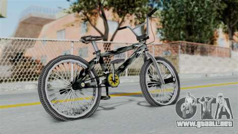 GTA 5 BMX Camo para GTA San Andreas vista posterior izquierda