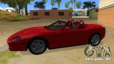 Ferrari 550 Barchetta Pinifarina US Specs 2001 para GTA San Andreas left