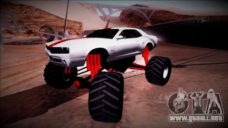 GTA 5 Bravado Gauntlet Monster Truck para vista lateral GTA San Andreas