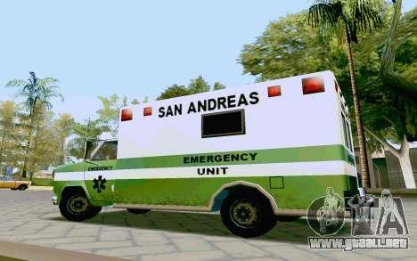 Journey Ambulance para la visión correcta GTA San Andreas