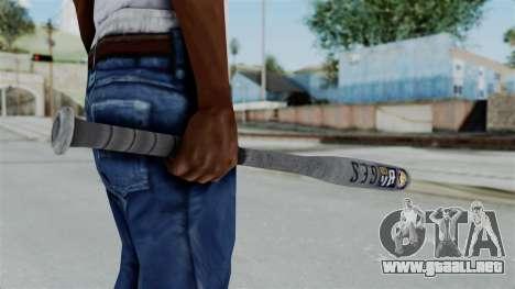 GTA 5 Baseball Bat para GTA San Andreas tercera pantalla
