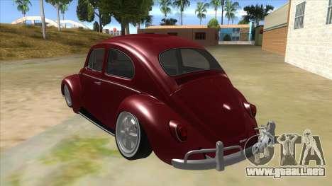Volkswagen Beetle Aircooled V2 para GTA San Andreas vista posterior izquierda