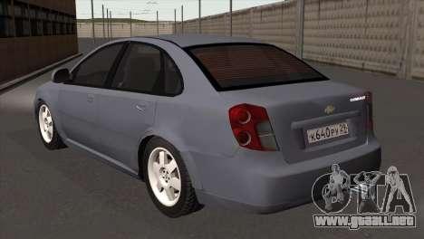 Chevrolet Lacetti Sedan para GTA San Andreas left