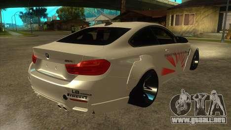 BMW M4 Liberty Walk Performance para la visión correcta GTA San Andreas