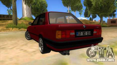 BMW M3 E30 1991 para GTA San Andreas vista posterior izquierda