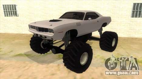 1971 Plymouth Hemi Cuda Monster Truck para GTA San Andreas