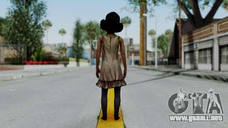Clementine from The Walking Dead para GTA San Andreas tercera pantalla