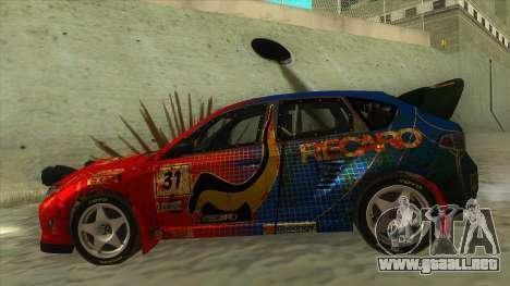 Subaru Impreza WRX STi 2011 ,,Response,, para GTA San Andreas left