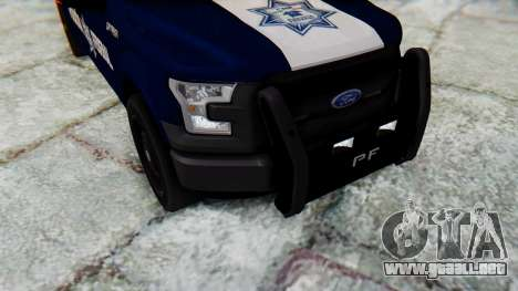 Ford F-150 2015 Policia Federal para visión interna GTA San Andreas