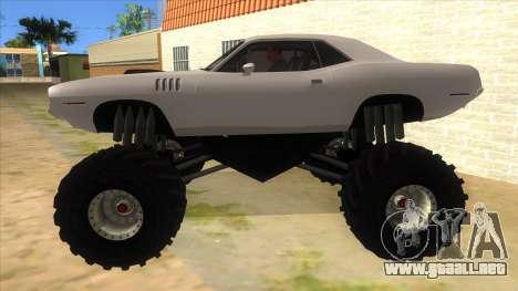 1971 Plymouth Hemi Cuda Monster Truck para GTA San Andreas left