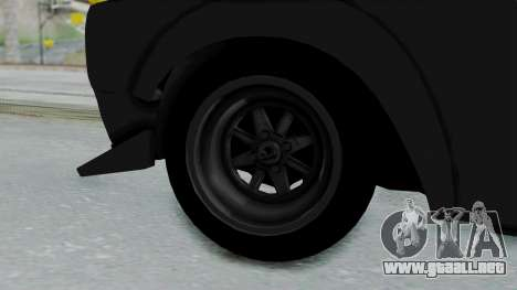 Nissan Skyline 2000GTR Speedhunters Edition para GTA San Andreas vista posterior izquierda