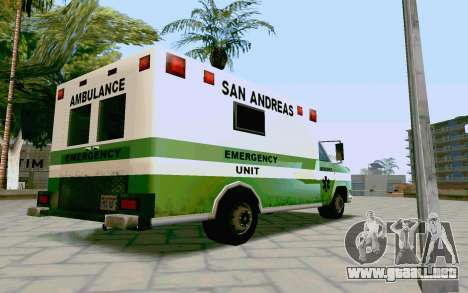 Journey Ambulance para GTA San Andreas left