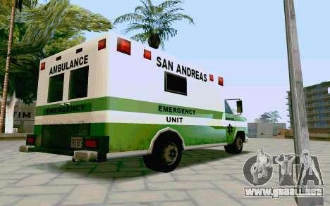 Journey Ambulance para GTA San Andreas left