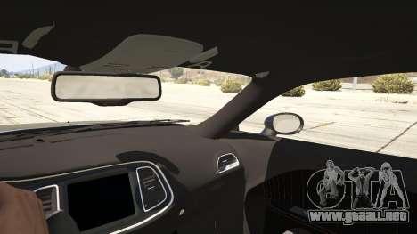 GTA 5 2015 Dodge Challenger vista lateral trasera derecha
