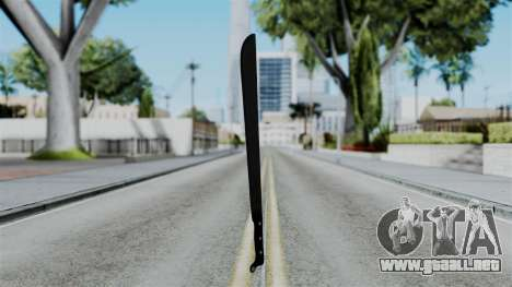 No More Room in Hell - Machete para GTA San Andreas segunda pantalla