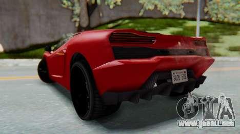 GTA 5 Pegassi Vacca SA Style para GTA San Andreas left
