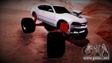 2006 Dodge Charger SRT8 Monster Truck para vista inferior GTA San Andreas