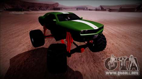 GTA 5 Bravado Gauntlet Monster Truck para visión interna GTA San Andreas