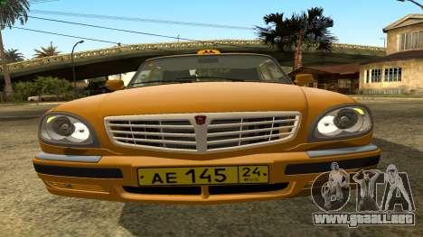 GAZ 31105 Volga Taxi FIV para la vista superior GTA San Andreas