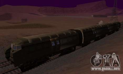 Batman Begins Monorail Train v1 para visión interna GTA San Andreas