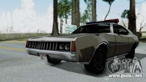 Police Clover para GTA San Andreas vista posterior izquierda