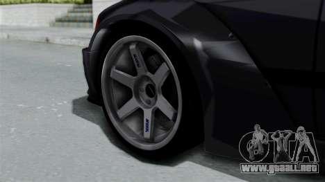 BMW M3 E36 Widebody para GTA San Andreas vista posterior izquierda