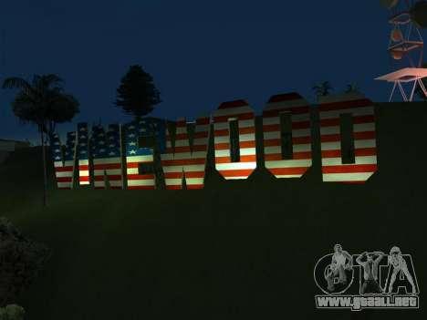 New Vinewood colors USA flag para GTA San Andreas segunda pantalla