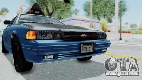 GTA 5 Vapid Stanier II Taxi IVF para la vista superior GTA San Andreas