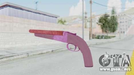 Double Barrel Shotgun Pink Tint (Lowriders CC) para GTA San Andreas tercera pantalla
