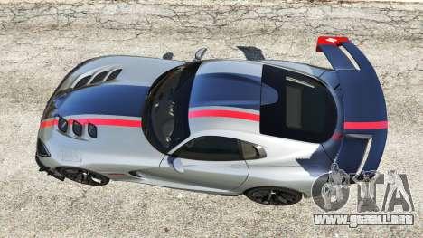 GTA 5 Dodge Viper SRT ACR 2016 vista trasera