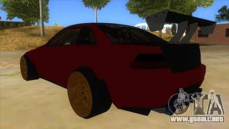 GTA V Sentinel RS MKII para GTA San Andreas vista posterior izquierda