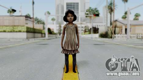 Clementine from The Walking Dead para GTA San Andreas segunda pantalla